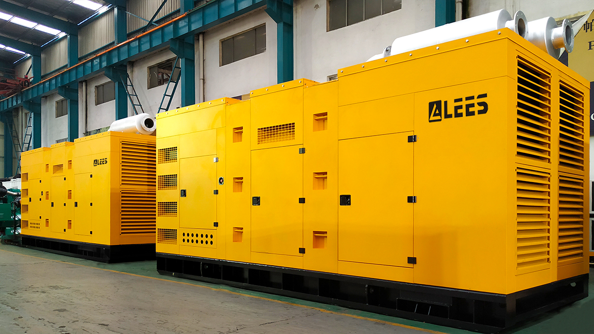 GENERATEUR DE DIESEL DE TYPE SUPER SILENCE LEES 1250KVA